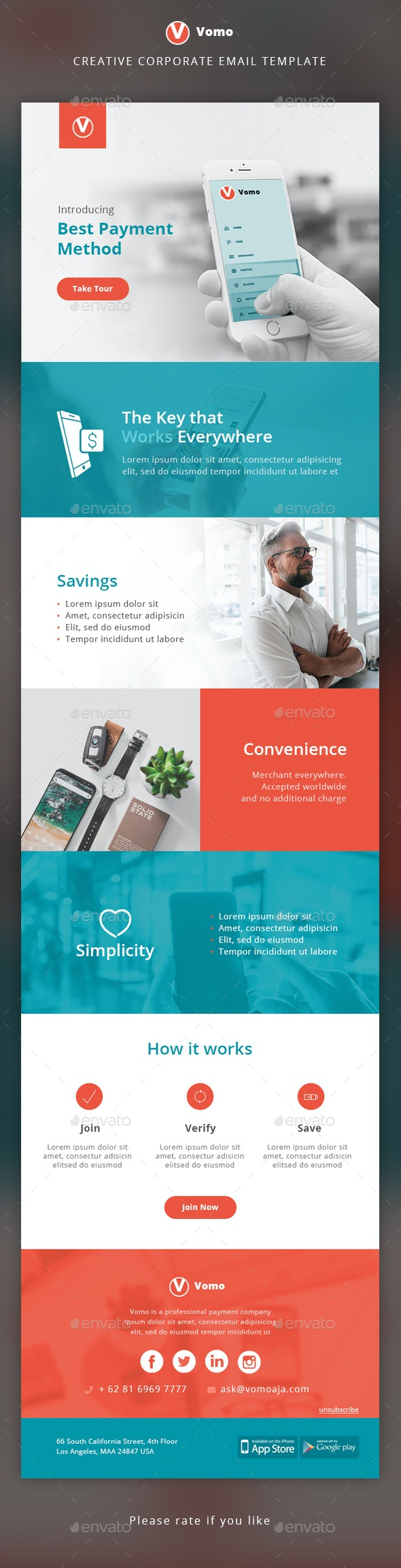Corporate Email Template - E-newsletters Web Elements