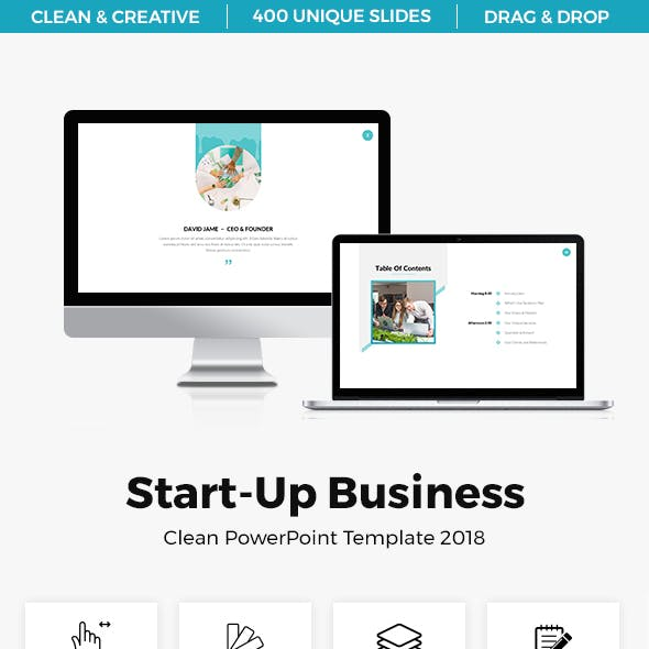 Start-Up Clean Bundle PowerPoint Template 2018