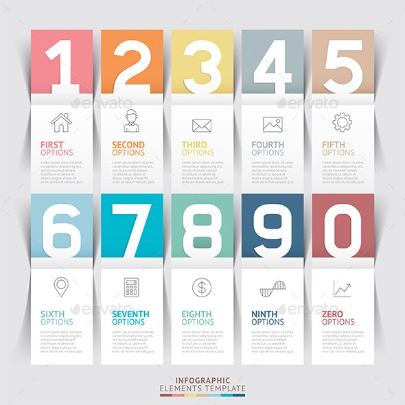 Modern Infographic Number Options Template - Infographics