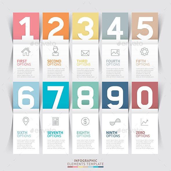Modern Infographic Number Options Template