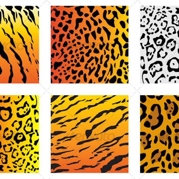 Set of wildcat fur