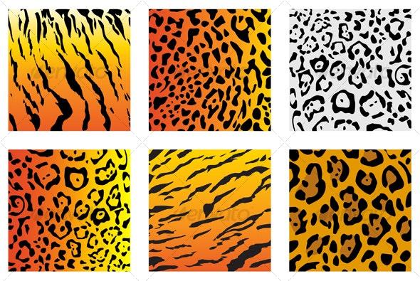 Set of wildcat fur - Decorative Vectors