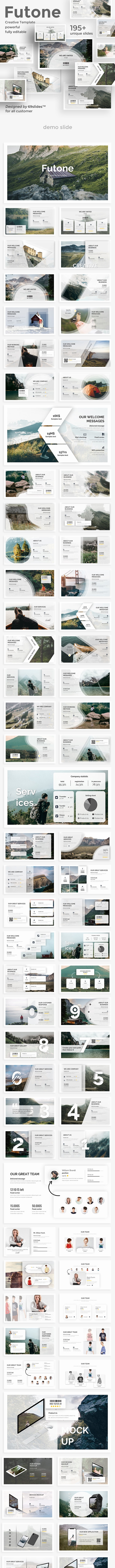 Futone Creative Design Powerpoint Template - Creative PowerPoint Templates