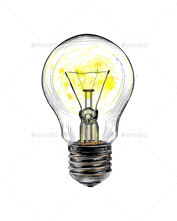 Incandescent Light Bulb - Man-made Objects Objects