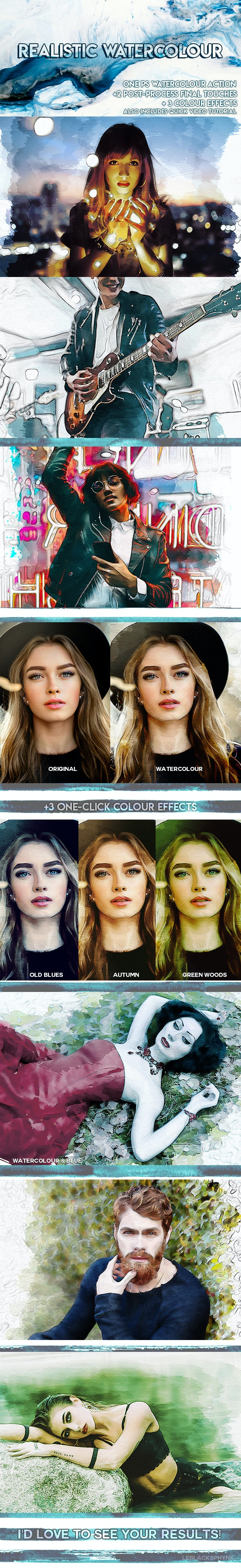 Realistic Watercolour - Photo Effects Actions
