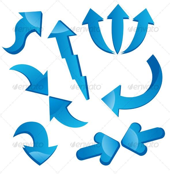 Set of arrows - Decorative Vectors