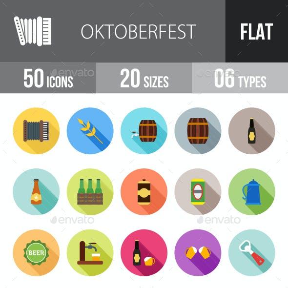 Oktoberfest Flat Shadowed Icons