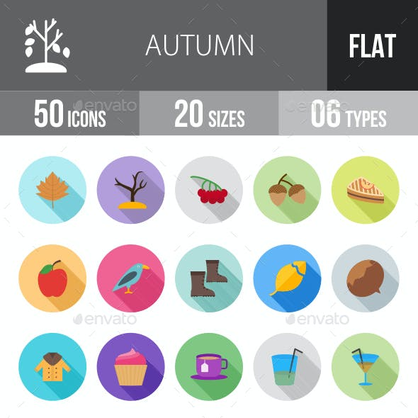 Autumn Flat Shadowed Icons