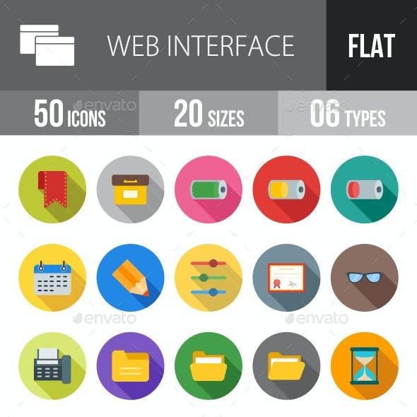 Web Interface Flat Shadowed Icons