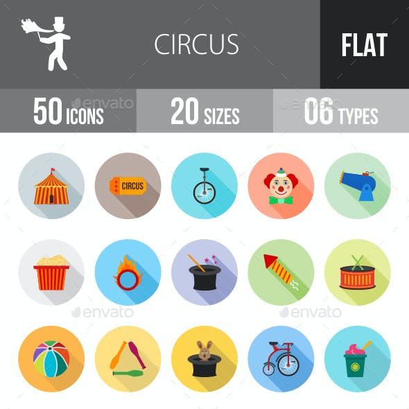 Circus Flat Shadowed Icons