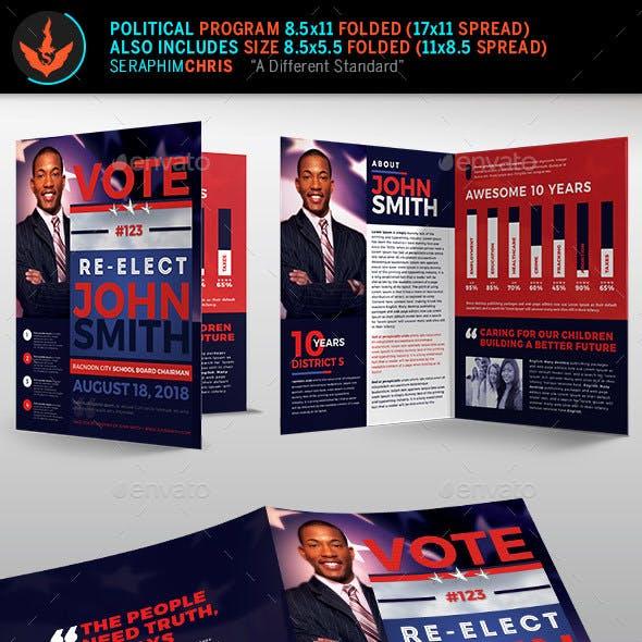 Re-Election Political Brochure Template