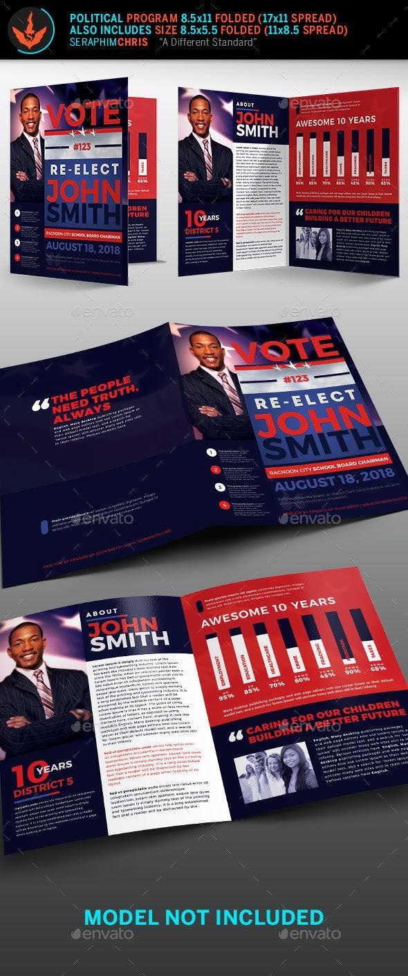 Re-Election Political Brochure Template - Corporate Brochures