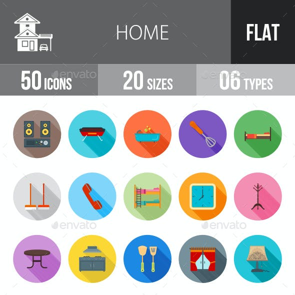 Home Flat Shadowed Icons