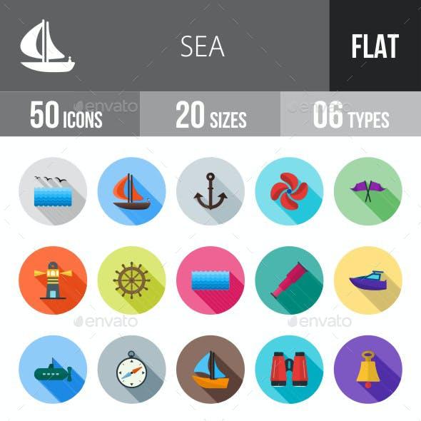 Sea Flat Shadowed Icons