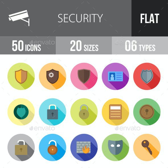 Security Flat Shadowed Icons