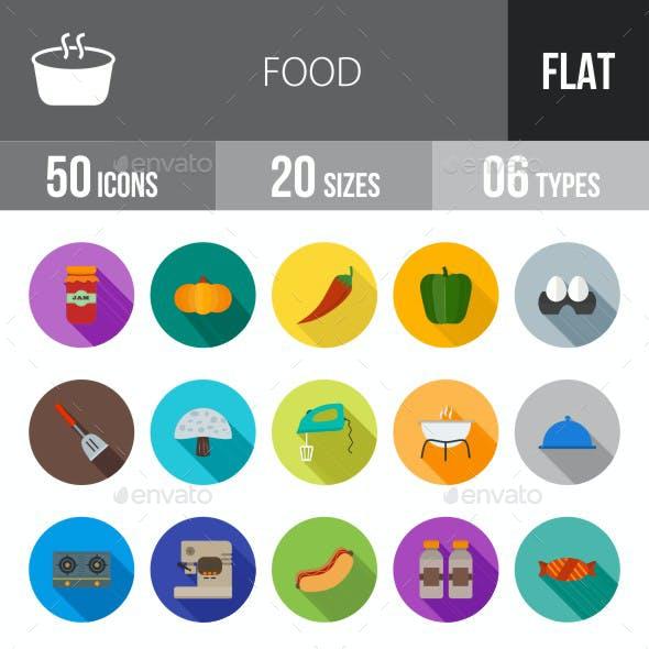 Food Flat Shadowed Icons