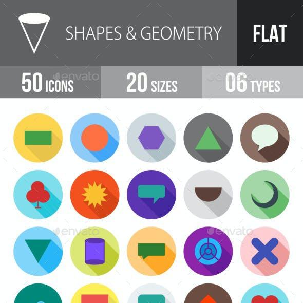 Shapes & Geometry Flat Shadowed Icons