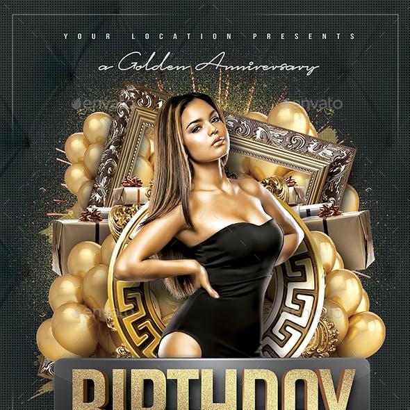 Birthday Anniversary Flyer