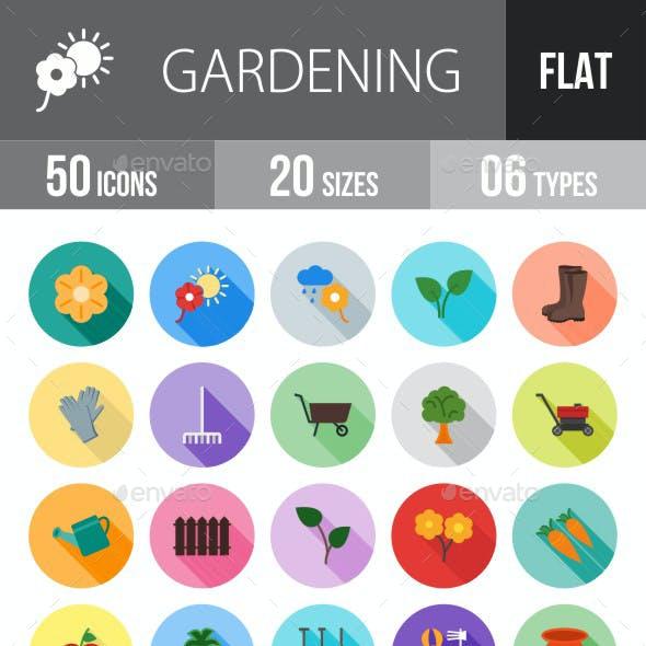 Gardening Flat Shadowed Icons