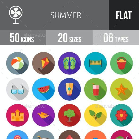 Summer Flat Shadowed Icons