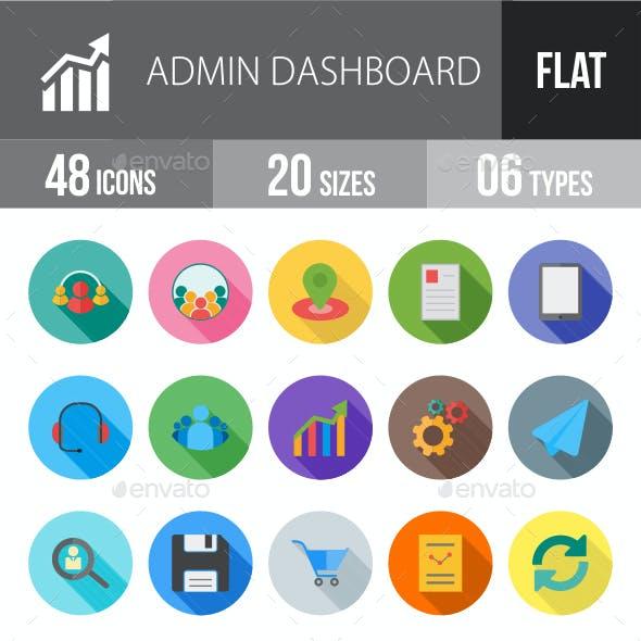 Admin Dashboard Flat Shadowed Icons