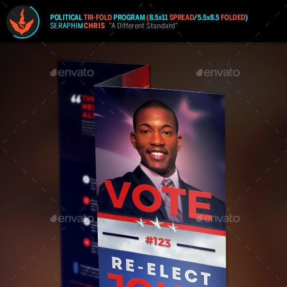 Re-Election Political Tri-Fold Brochure Template