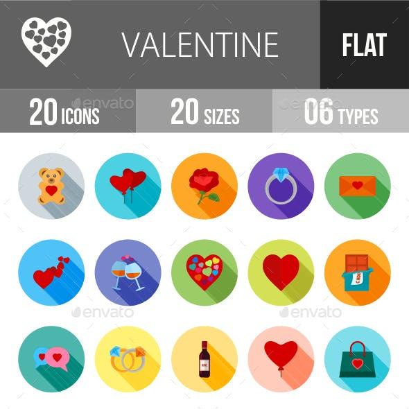 Valentine Flat Shadowed Icons
