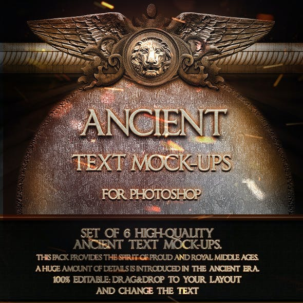 6 Ancient Text Mock-Ups