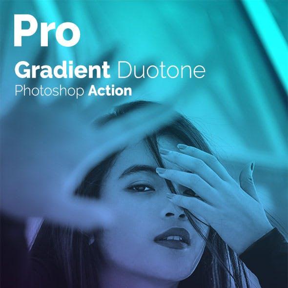 Pro Gradient Duotone Photoshop Action