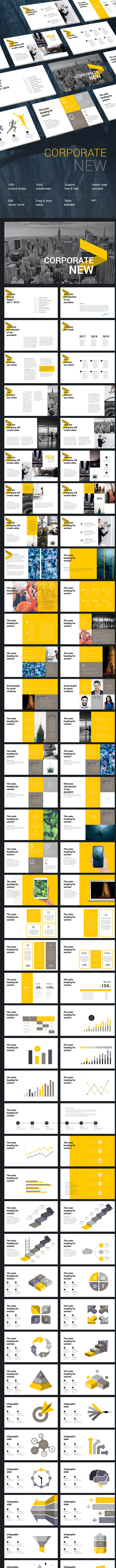 Corporate New Business Keynote Template - Business Keynote Templates