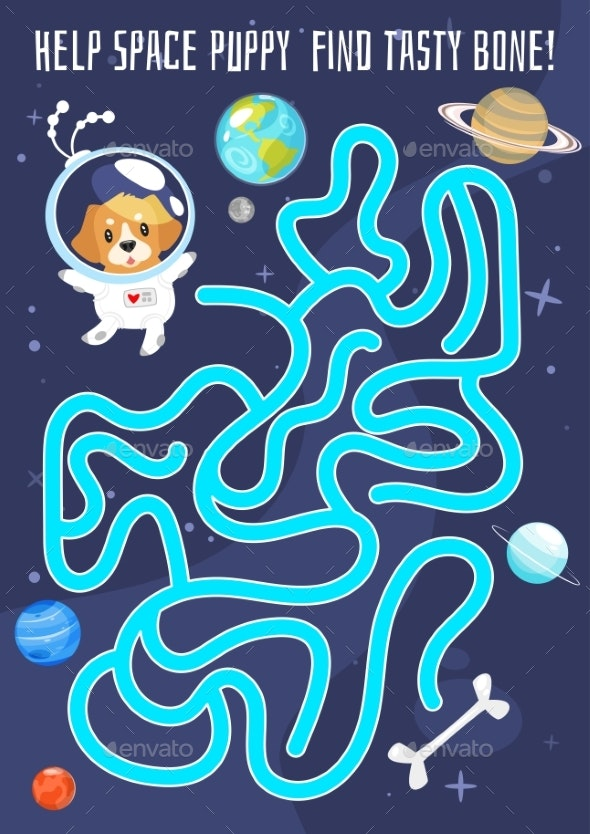 Kids Space Board Game - Miscellaneous Vectors