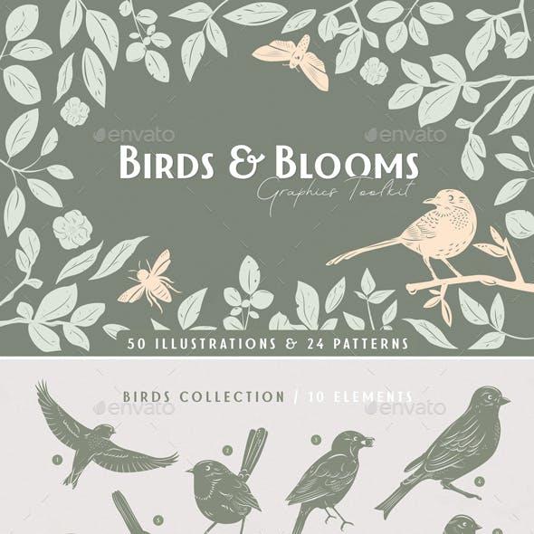 Birds & Blooms Graphics Toolkit