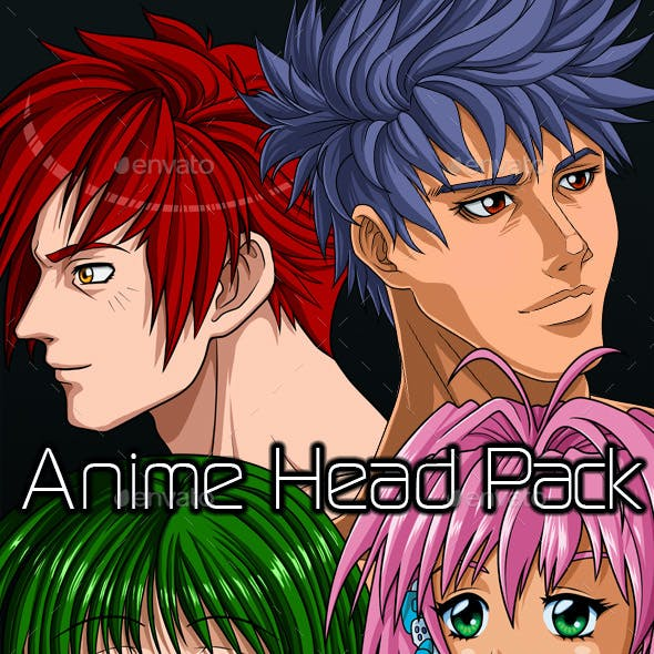 Anime Avatar Head Pack