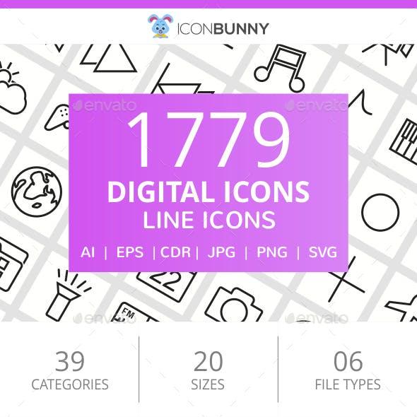 1779 Digital Line Icons