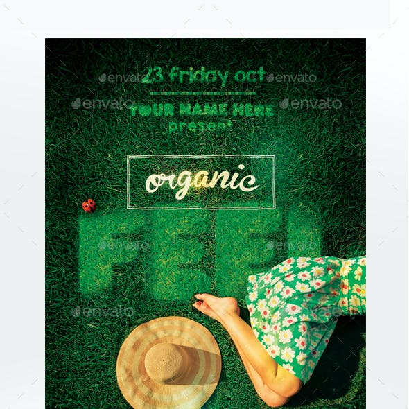 Organic Feel Flyer Template Grass & Sand Version