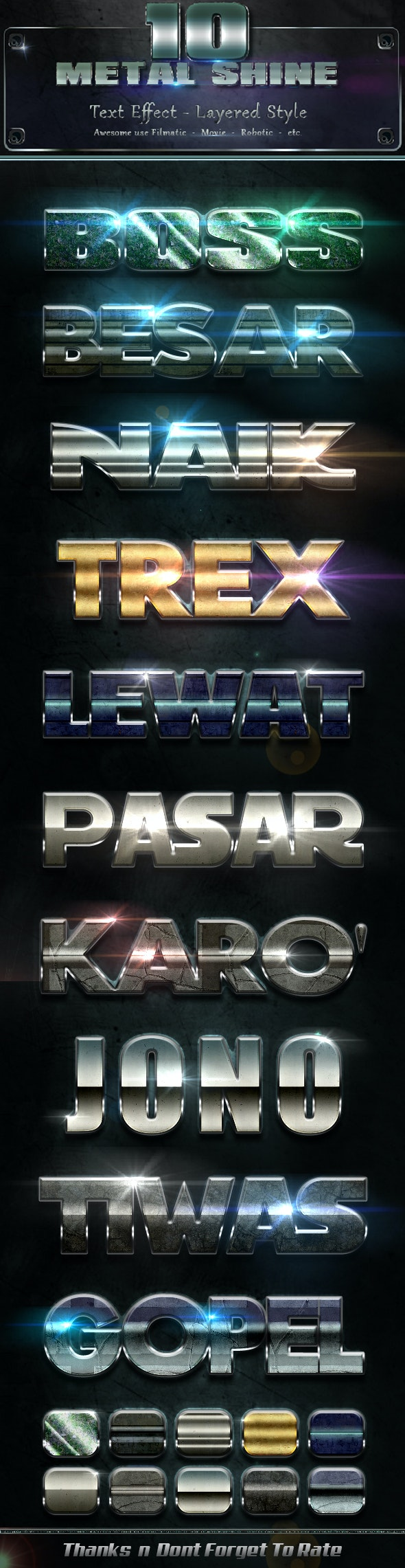 Metal Shiny v10 - Text Effects Styles