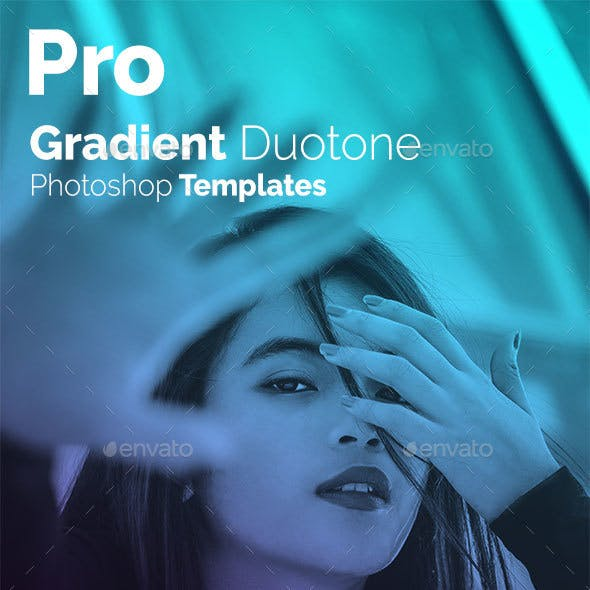 Pro Gradient Duotone Photoshop Templates