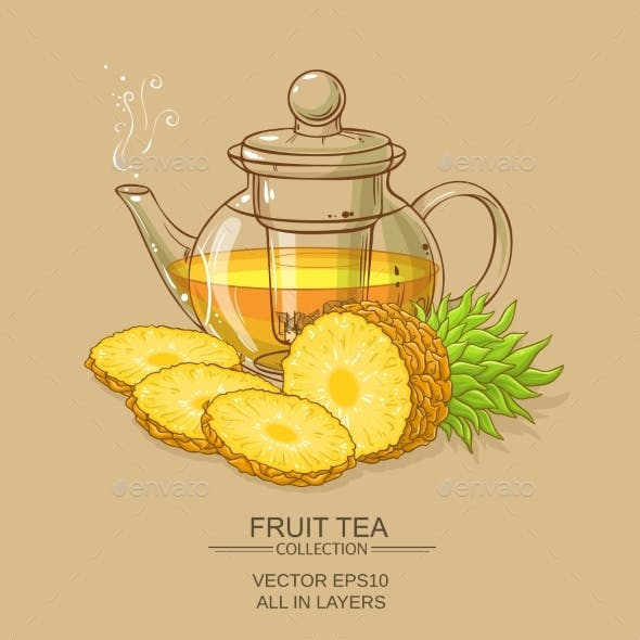 Pineapple Tea Illustration