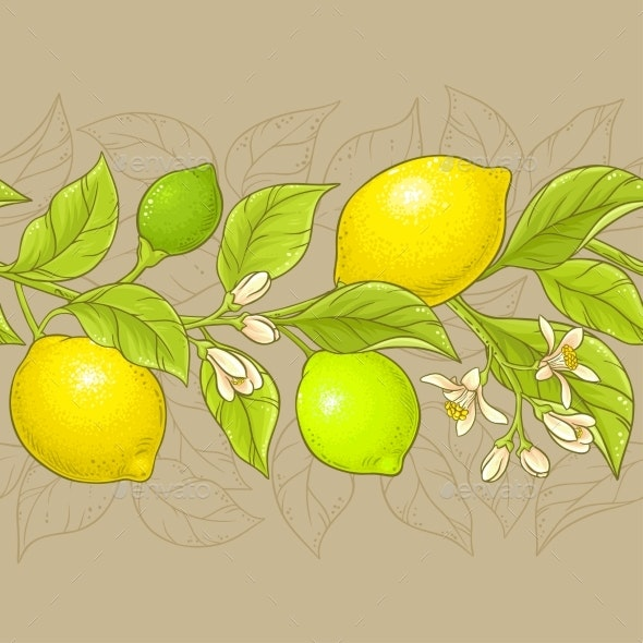 Lemon Vector Pattern - Food Objects