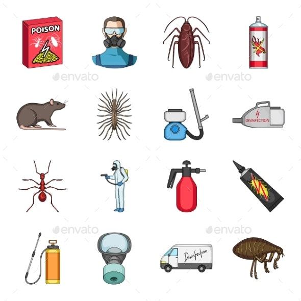 Pest and Poison Cartoon - Miscellaneous Vectors