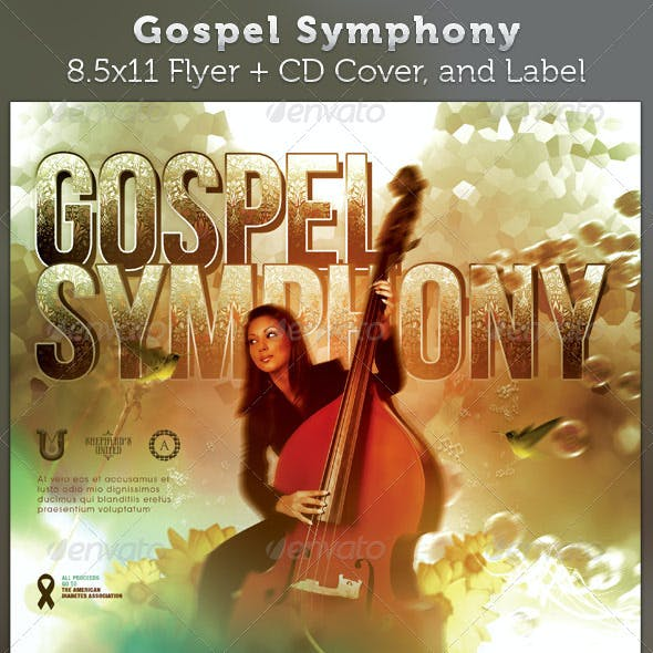 Gospel Symphony Full Page Flyer and CD Cover