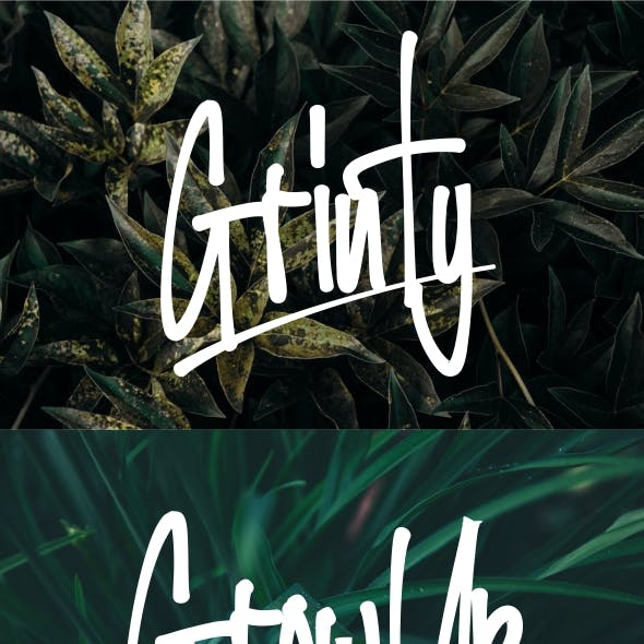 Grinty Handwriting Font