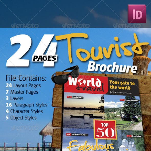 24 Pages Tourist Brochure