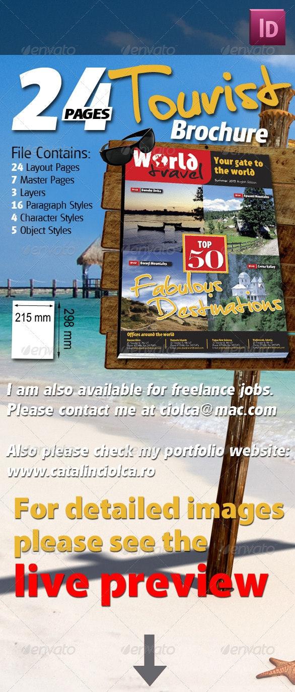 24 Pages Tourist Brochure - Magazines Print Templates