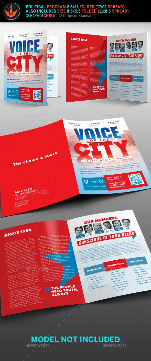 Voice of the City Charity Brochure Template - Corporate Brochures