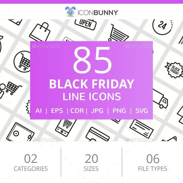 85 Black Friday Line Icons