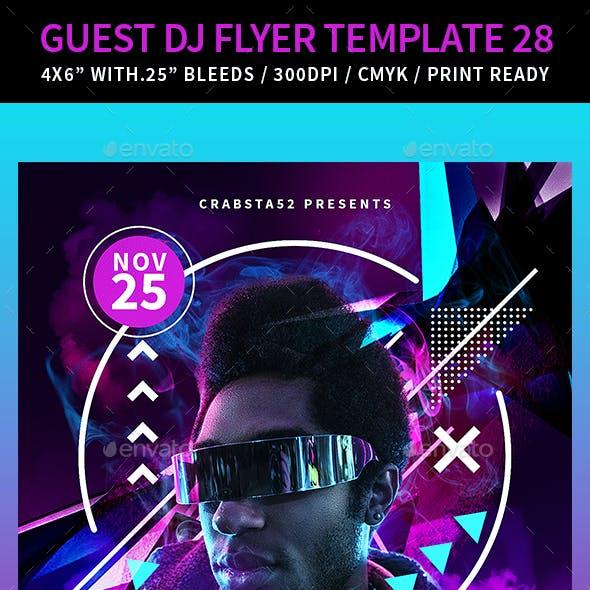 Guest DJ Flyer Template 28