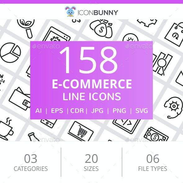 158 E-Commerce Line Icons