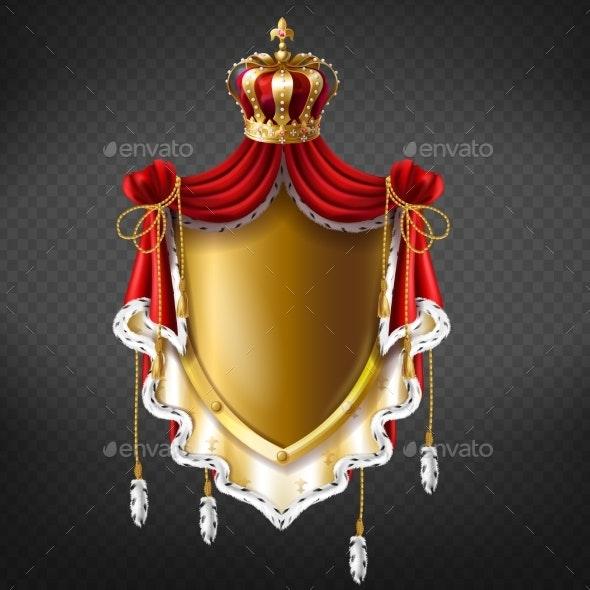 Vector Royal Coat of Arms - Decorative Symbols Decorative