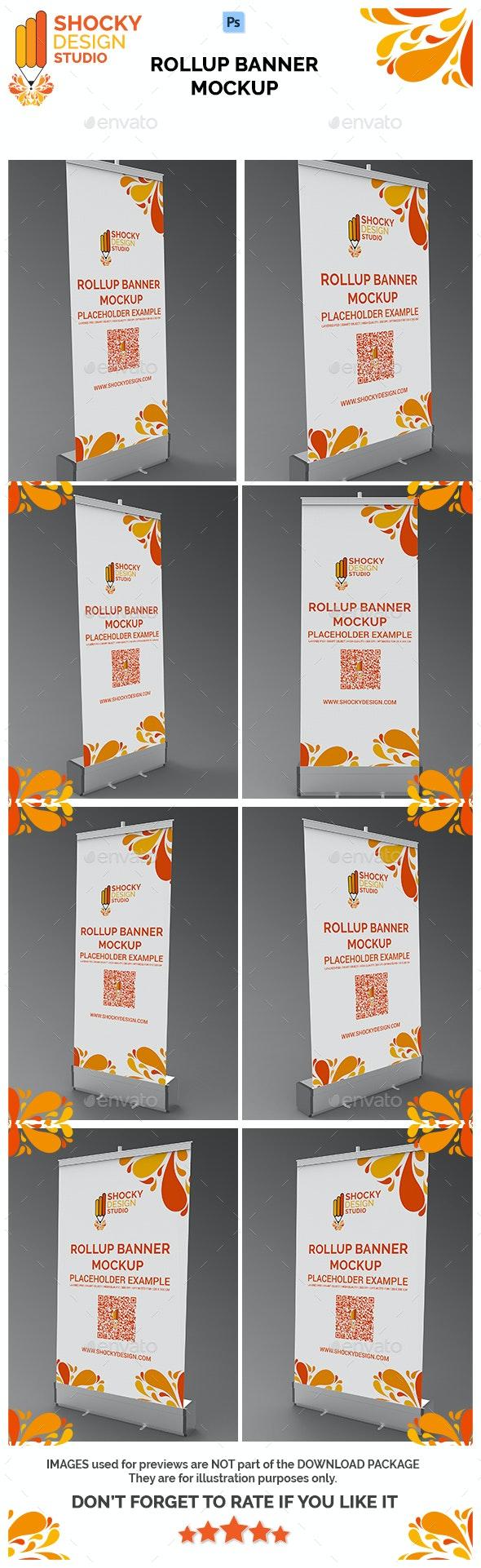 Rollup Banner Mockup - Signage Print
